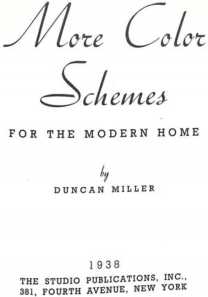 """More Color Schemes For the Modern Home"" MILLER, Dunkin"