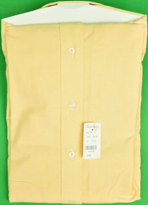 Brooks Brothers Yellow OCBD Shirt Sz: 16-34 (New w/ Tag!)