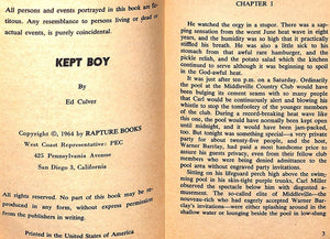 """Kept Boy"" 1964 CULVER, Ed"