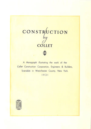 """Construction by Collet"" 1931"