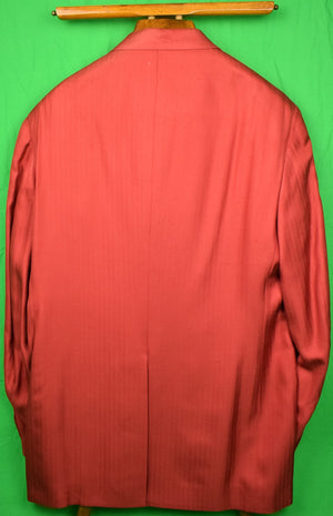O'Connell's Hilton Ruby Red Douppilni 100% Silk Sport Coat Sz: 46L (New w/ Tag!)