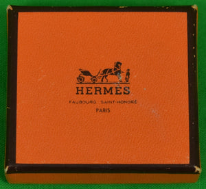 Set of 4 Hermes 'H' Monogram Horn Buttons in Box