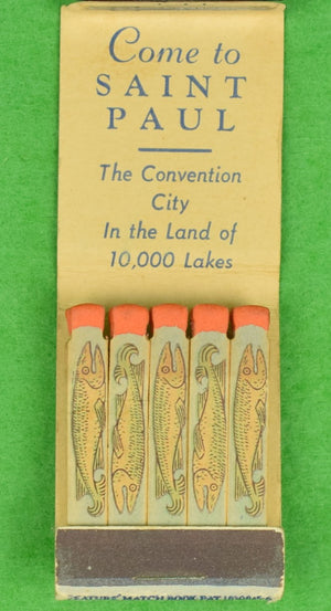 St Paul c1940s Fly-Fishing Matchbook