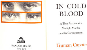 """In Cold Blood"" CAPOTE, Truman"