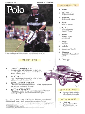 """Polo Magazine: East vs. West A 60-Year Rivalry Endures"" September 1993"