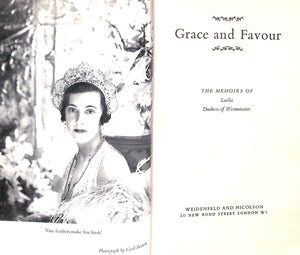 """Grace And Favour: Memoirs of Loelia, Duchess of Westminster"" 1961"