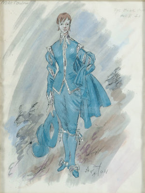Miss Parlow [as] The Blue Boy Act II of Landscape with Figures Original Watercolour by Cecil Beaton