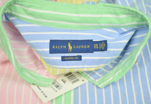 """Ralph Lauren OCBD Fun Stripe Shirt Sz: XXL (New/ Old Deadstock w/ Tag!)"""