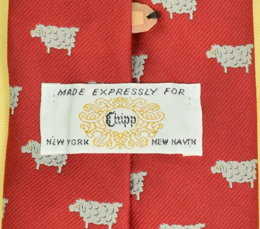 """Chipp Black Sheep Novelty Red Tie"""