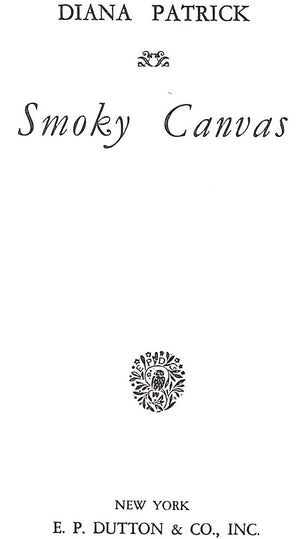 """Smoky Canvas"" 1935 PATRICK, Diana"