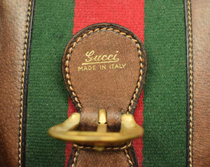 Gucci Saddle Leather Valise