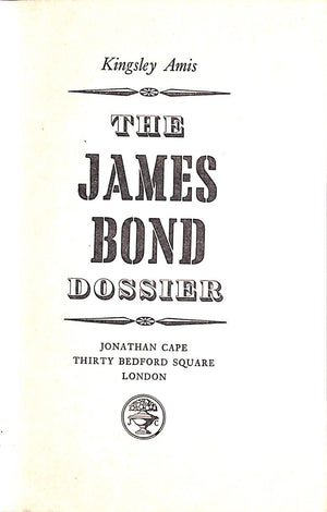 """The James Bond Dossier"" Amis, Kingsley"