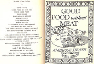 """Good Food Without Meat"" Heath, Ambrose"