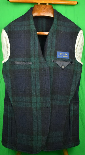 """Polo Ralph Lauren Black Watch Tartan Plaid Tweed Sport Jacket Sz: 40R"""