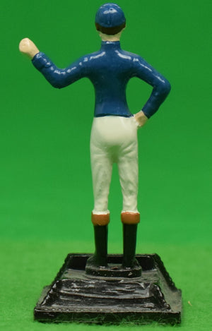 "The ""21"" Club New York Blue Jockey Place Card Holder"