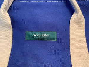 Ltd Ed Tucker Blair Angler's Canvas Duffle Bag w/ Needlepoint Sailfish & Hook