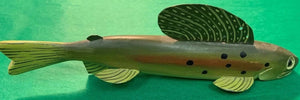 Set of 4 Jim Pullen Cadillac, MI Speckled Trout Fish Decoys