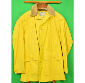 Abercrombie & Fitch Falcon Brand Mustard Yellow Hunting Jacket Sz 40