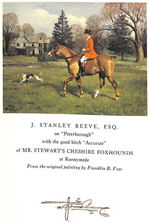 """A Foxhunter's Journal"" REEVE, J. Stanley"