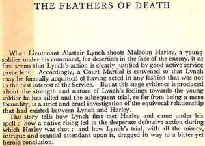"""The Feathers of Death"" 1959 Raven, Simon"