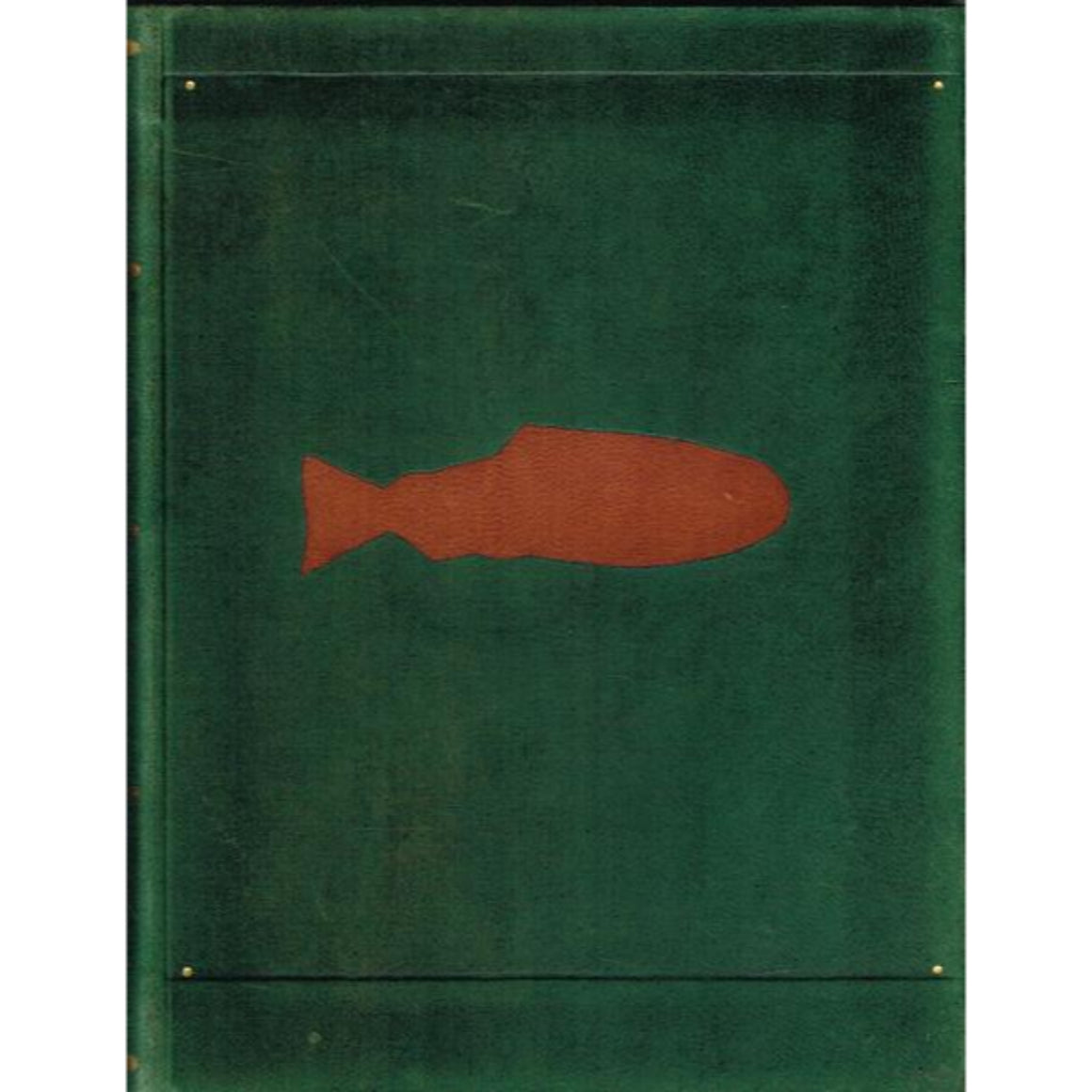 Green Morocco Leather Notebook w/ Fish Decoy