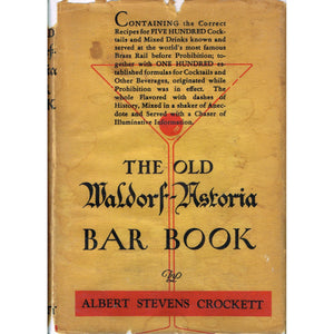 The Old Waldorf-Astoria Bar Book