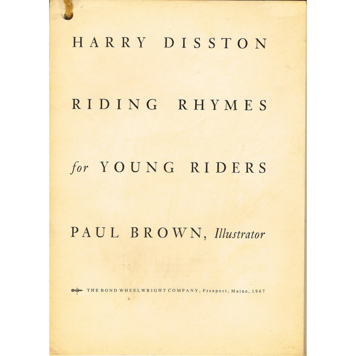 Riding Rhymes for Young Riders