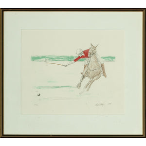 Red Jersey Polo Player