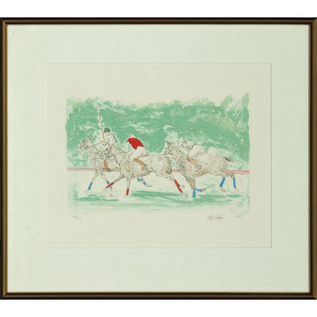 Three Polo Players
