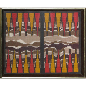 Needlepoint Backgammon Board