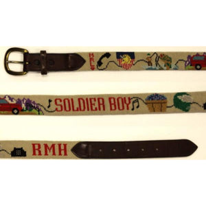 'Custom Jeep Needlepoint Belt' Sz: 35""
