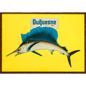 Sailfish Advert Sign For Duquesne Pilsener Beer