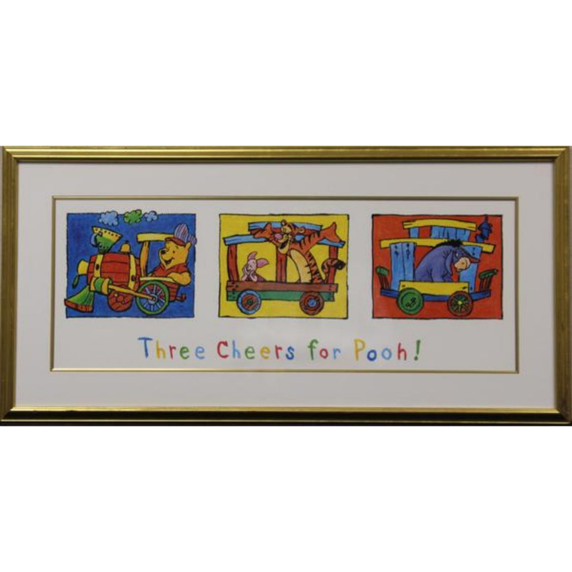 Three Cheers for Pooh! Gilt Framed Colour Print