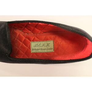 Berk of London Three Plumes Slippers Sz: 8""
