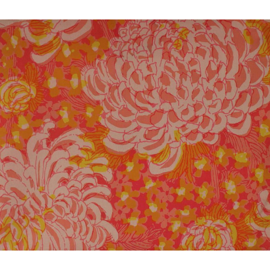 Lilly Pulitzer c1960s Pink & Orange Floral Burst Key West Fabric