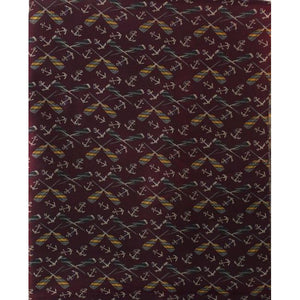Cross Oars & Anchors on Plum Colored Fabric