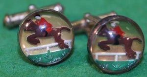 Horse & Jockey Sterling Cufflinks