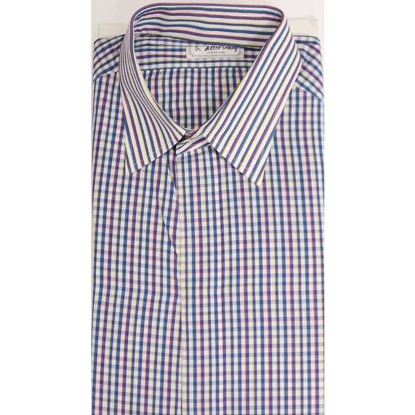 Ascot Chang Multi-Check Custom Dress Shirt