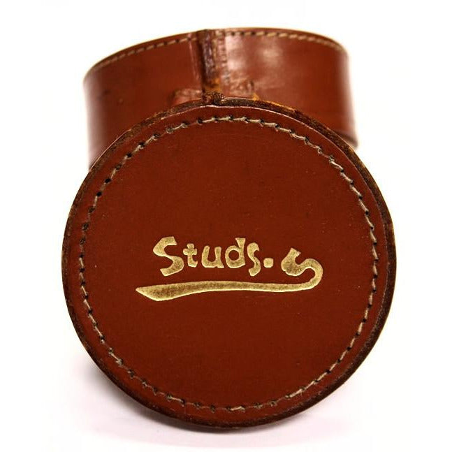 Studs Leather Circular Case