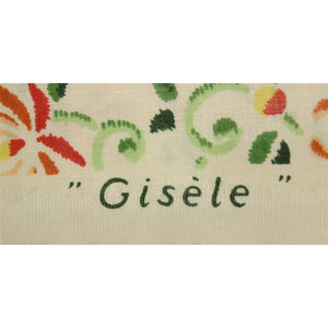 Vintage Gisele Glazed Chintz Fabric w/ Floral & Butterfly Pattern