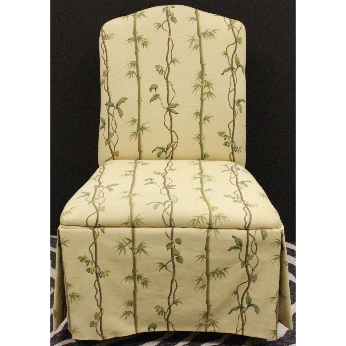 Children's Slipper Chair w/ Bamboo Print Fabric