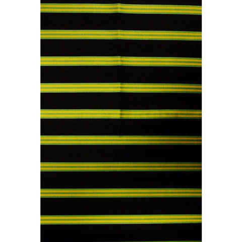 4pc Brooks Brothers English Silk Neckwear Fabric w/ Navy, Green, and Gold Regimental Stripes