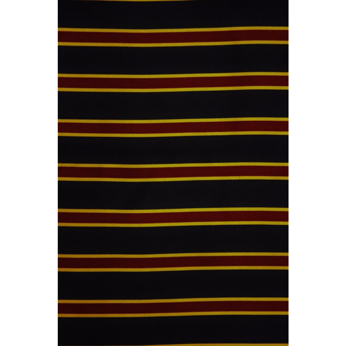 Brooks Brothers English Silk Neckwear Fabric w/ Navy, Gold & Maroon Regimental Stripes