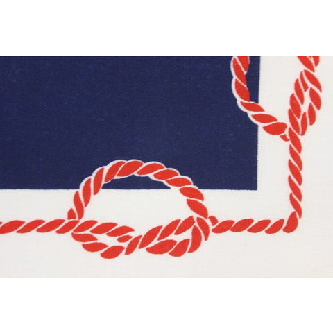 9pc. Navy/Red & White Nautical Place Mats & Table Cover