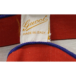 Gucci Yachting/Nautical Cotton Damask Tablecloth w/ Gold Rope Twist