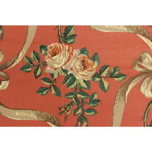 3pc Vintage Rose Cumming Chintzes Glazed Fabric