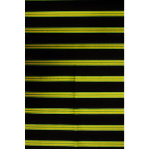 Brooks Brothers Silk Necktie Fabric w/ Navy, Gold, & Green Regimental Stripes