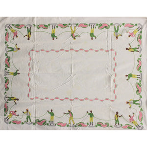 Jockey Watermelon Vintage Tablecloth