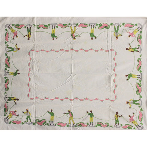 Rare c1930s Jockey 'Watermelon' Vintage Tablecloth