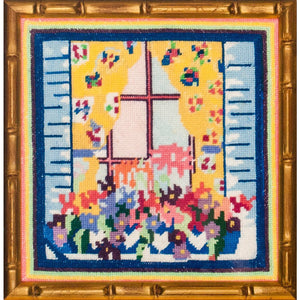 Needlepoint Floral WindowBox